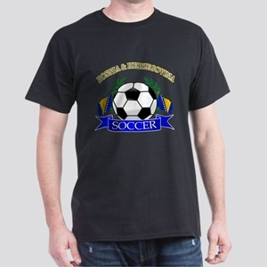 Bosnia Herzegovina Soccer Designs Dark T-Shirt