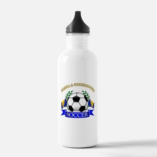 Bosnia Herzegovina Soccer Designs Water Bottle