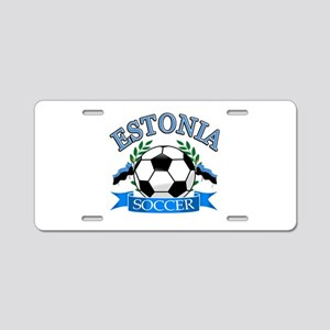 Estonia Soccer Designs Aluminum License Plate