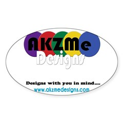 AKZMedesigns LOGO Sticker (Oval)