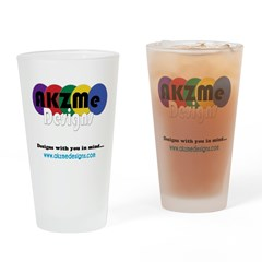 AKZMedesigns LOGO Drinking Glass