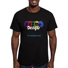 AKZMedesigns LOGO Men's Fitted T-Shirt (dark)