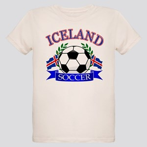 Iceland Soccer Designs Organic Kids T-Shirt