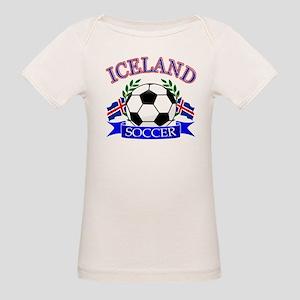 Iceland Soccer Designs Organic Baby T-Shirt
