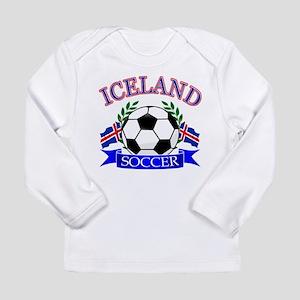 Iceland Soccer Designs Long Sleeve Infant T-Shirt