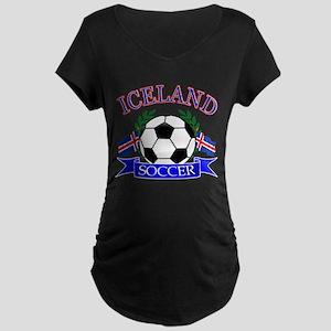 Iceland Soccer Designs Maternity Dark T-Shirt