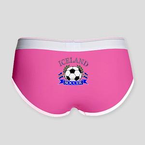 Iceland Soccer Designs Women's Boy Brief