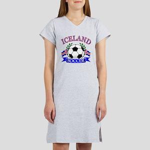 Iceland Soccer Designs Women's Nightshirt