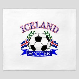 Iceland Soccer Designs King Duvet