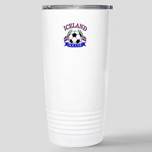 Iceland Soccer Designs Stainless Steel Travel Mug
