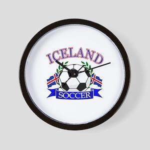 Iceland Soccer Designs Wall Clock