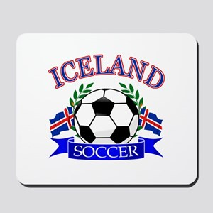 Iceland Soccer Designs Mousepad