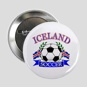 "Iceland Soccer Designs 2.25"" Button"