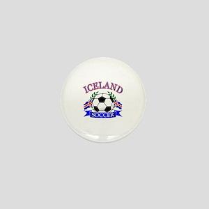 Iceland Soccer Designs Mini Button