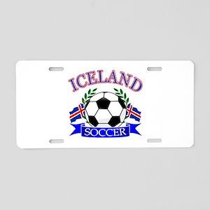 Iceland Soccer Designs Aluminum License Plate