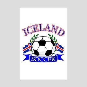 Iceland Soccer Designs Mini Poster Print