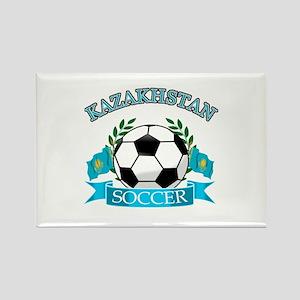 Kazakhstan Soccer Designs Rectangle Magnet