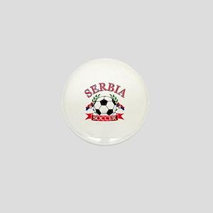Serbia Soccer Designs Mini Button