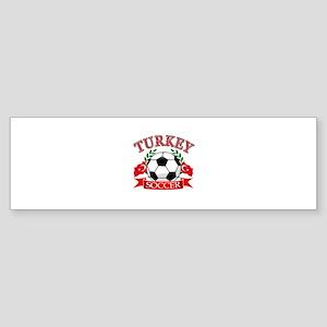 Turkey Soccer Designs Sticker (Bumper)