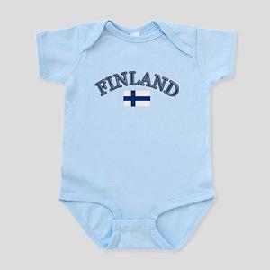 Finland Soccer Designs Infant Bodysuit
