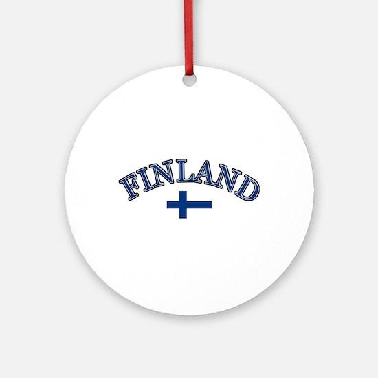 Finland Soccer Designs Ornament (Round)