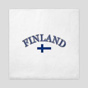 Finland Soccer Designs Queen Duvet