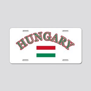 Hungary Soccer Designs Aluminum License Plate