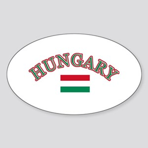 Hungary Soccer Designs Sticker (Oval)
