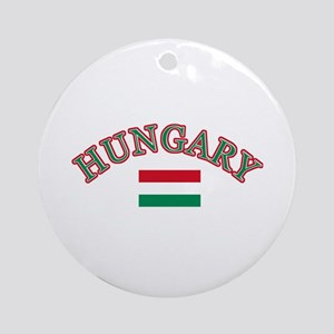 Hungary Soccer Designs Ornament (Round)