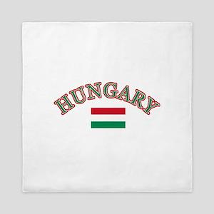 Hungary Soccer Designs Queen Duvet