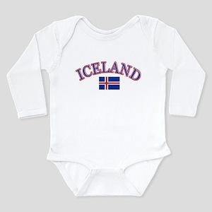 Iceland Soccer Designs Long Sleeve Infant Bodysuit