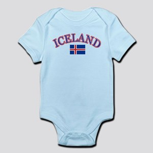 Iceland Soccer Designs Infant Bodysuit