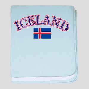 Iceland Soccer Designs baby blanket