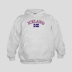 Iceland Soccer Designs Kids Hoodie