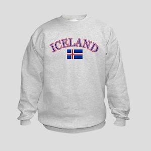 Iceland Soccer Designs Kids Sweatshirt