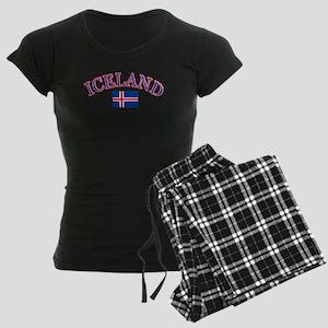 Iceland Soccer Designs Women's Dark Pajamas