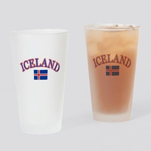 Iceland Soccer Designs Drinking Glass