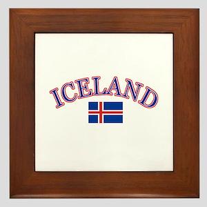 Iceland Soccer Designs Framed Tile