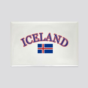 Iceland Soccer Designs Rectangle Magnet