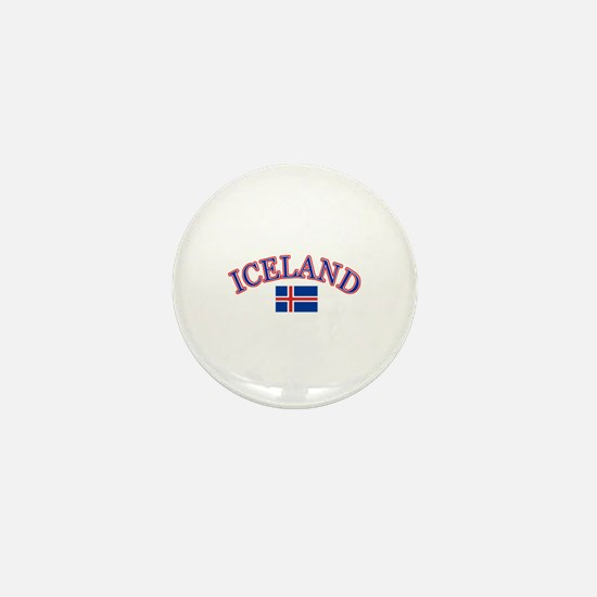 Iceland Soccer Designs Mini Button