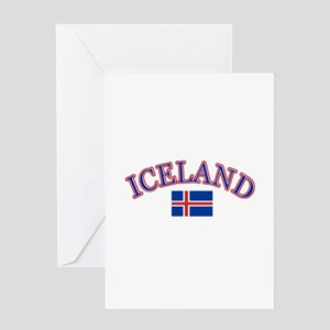 Iceland Soccer Designs Greeting Card