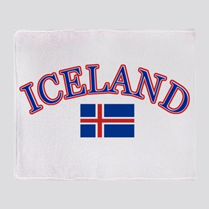 Iceland Soccer Designs Throw Blanket