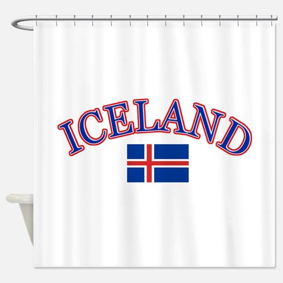 Iceland Soccer Designs Shower Curtain