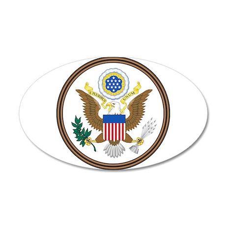 USA Seal 20x12 Oval Wall Decal