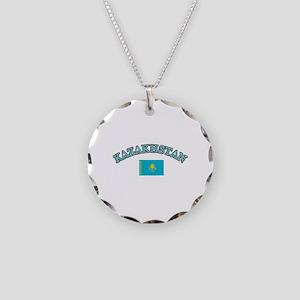Kazakhstan Soccer Designs Necklace Circle Charm