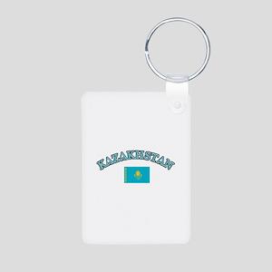 Kazakhstan Soccer Designs Aluminum Photo Keychain