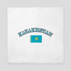 Kazakhstan Soccer Designs Queen Duvet