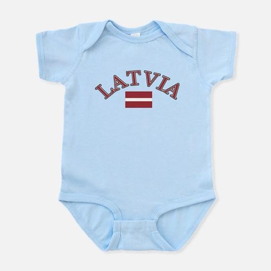 Latvia Soccer Designs Infant Bodysuit