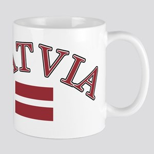 Latvia Soccer Designs Mug