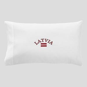 Latvia Soccer Designs Pillow Case
